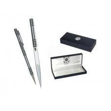 Mens Gift Boxed Letter Opener Pen Set - Black Lattice Charles Rennie Mackintosh Design