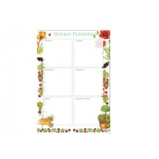 Beautiful Garden Weekly Planner Pad
