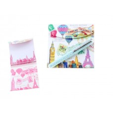 Travelling Landmarks Matchbook Notepad and Pen Set by Lily McGee