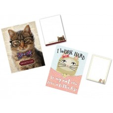 Smart Cats at Work - Pocket Notepads by Punch Studio