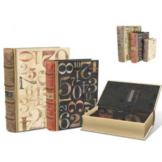 Numerals Design - Decorative Set of Filing Boxes