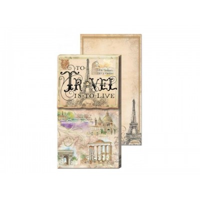 Decorative Notepad by Punch Studio - Travel Is To Live