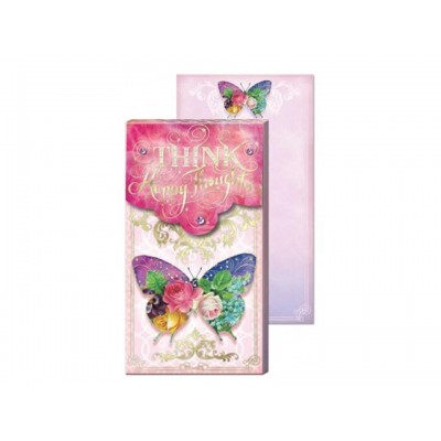 Decorative Notepad by Punch Studio - Think Happy Thoughts