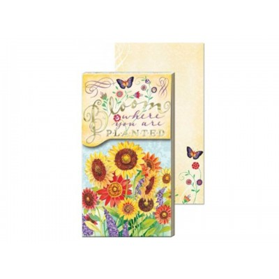 Decorative Notepad by Punch Studio - Bloom Where You Are Planted
