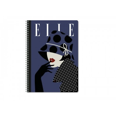 Elle Vintage Day Fashion Magazine Covers A4 Journal