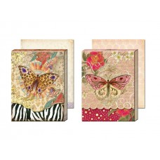 Gold Foil Decorative Notepads by Punch Studio - Butterflies