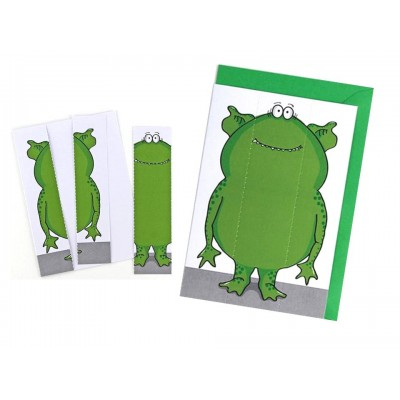 Monster Greeting Card & Bookmark - Delicious Green
