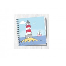 Square Project Style Notebook - Beach Lighthouse