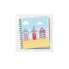 Square Project Style Notebook - Beach Huts
