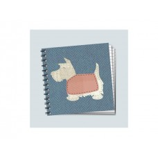 Square Project Style Notebook - Scotty Dog