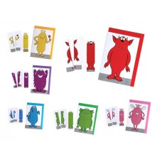 Monster Greeting Card & Bookmark - Assorted Colours