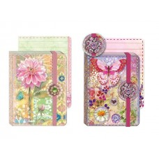 Jewel Notepads by Punch Studio - Flowers and Butterflies