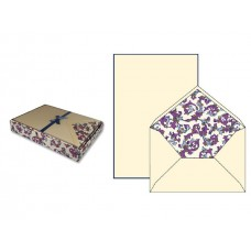 Luxury Italian Writing Paper Set - Florentine Purple and Navy