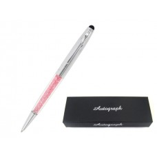 Womens Gift Boxed Pen & Stylus - Crystal Coral Princess Design