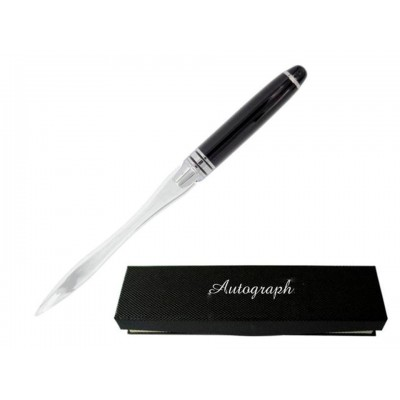 Classic Gift Boxed Black and Silver Letter Opener For Men