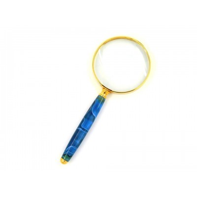 Decorative Magnifying Glass - Marble Blue Design