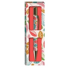 Decorative Gift Boxed Pen - Beautiful Leaves design