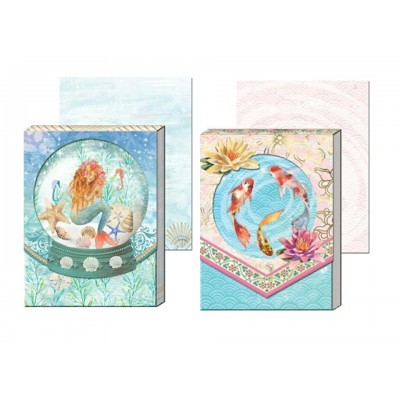 Decorative Notepads by Punch Studio - Mermaid and Fishes