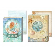 Decorative Notepads by Punch Studio - Mermaid and Seashells
