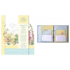 Decorative Birthday and Anniversaries Greetings Card Organiser - Edwardian Lady Midsummer Bloom Design