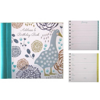 Decorative Birthday and Address Book - Goosey Gander Design