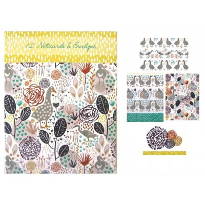 Goosey Gander - Assorted Decorative Note Cards - Ideal to use as Greetings Cards