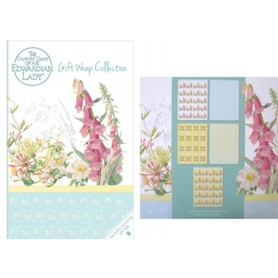 Decorative Gift Wrap Paper and Gift Tags Collection Set - Edwardian Lady Design