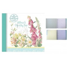 Decorative Birthday and Address Book - Edwardian Lady Midsummer Bloom Design