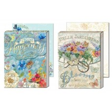 Decorative Gem Notepads by Punch Studio - Flowers and Bicycle