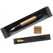 Gift Boxed Hand Crafted Zebra Wood Deluxe Rollerball Writing Pen