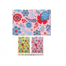 Beautiful Flowers - Assorted Decorative Note Cards - Ideal to use as Greetings Cards