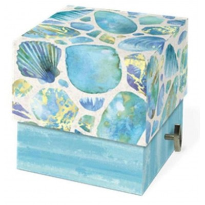 Decorative Music Box with Scented Soap by Punch Studio - Sea Glass Design