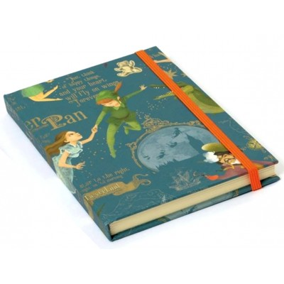 Luxury Italian Stationery Decorative Notebook - Peter Pan design