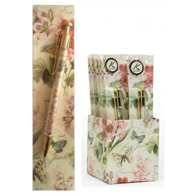Pen and Bookmark Gift Set - Italian Romantic Flowers design