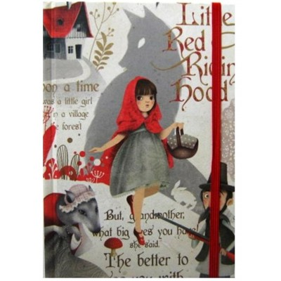 Luxury Italian Stationery Decorative Notebook - Little Red Riding Hood design
