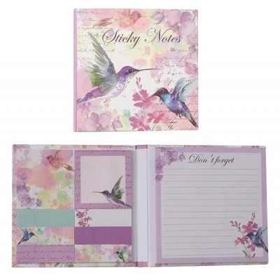 Decorative Sticky Notes and Message Pad - Hummingbird Design