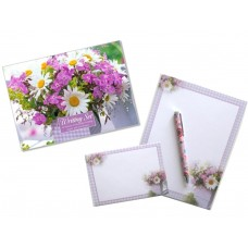 Gingham and Daisy Flowers - Decorative Letter Writing Set