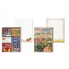 Decorative Farmers Market Notepads by Punch Studio