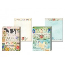 Decorative Farm House Cottage Notepads by Punch Studio