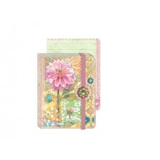 Pink Dahlia Mini Brooch Journal by Punch Studio