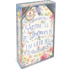 Decorative Scented Sachet - Home Is Where I Am With You Design by Punch Studio - Fresh Linen Fragrance