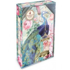 Decorative Scented Sachet - Birdcage Peacock Design by Punch Studio - Rose Fragrance