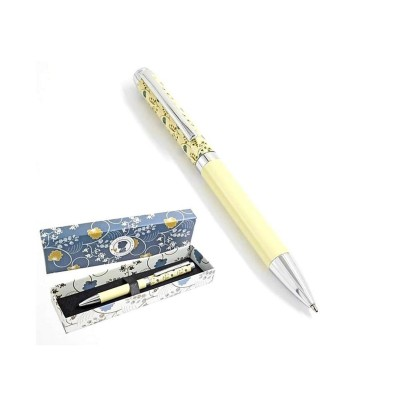 Womens Decorative Gift Boxed Pen - Jane Austen Cream design