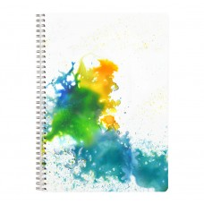Blue Watercolours - A4 Wirebound Notebook