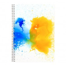 Yellow Watercolours - A4 Wirebound Notebook