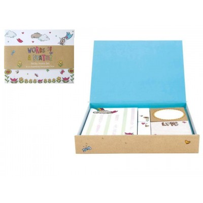 Words of a Feather Decorative Sticky Note Box Set