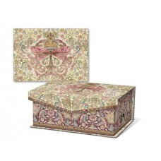 Decorative Butterfly and Gold Crown Music Box Notecards - Punch Studio