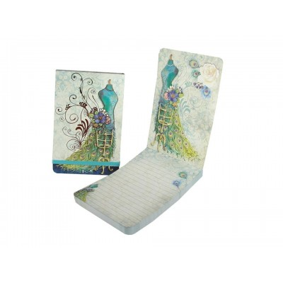 Decorative Peacock Dress Flip Notepad by Punch Studio