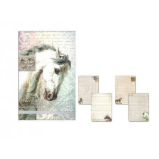 Beautiful Horses Decorative Flip Notepad by Punch Studio