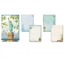 Decorative Lady Liberty Goddess Flip Notepad by Punch Studio